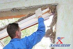 Установка пластиковых окон - 1 этап демонтаж старого окна