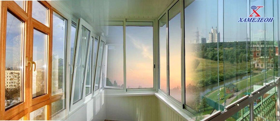 Конструкции ПВХ на балконах и лоджиях