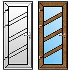 """стандартные двери ПВХ из коллекции """"Лайн"""""""